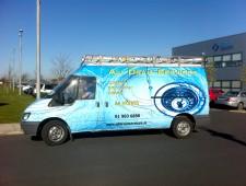 Livery van wrap around